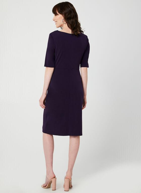 Jersey Elbow Sleeve Dress, Purple, hi-res