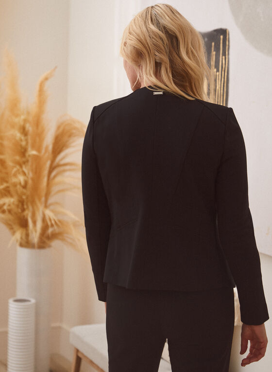 Open Front Jacket, Black