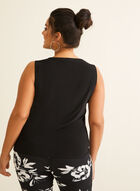 Appliqué Detail Sleeveless Top, Black