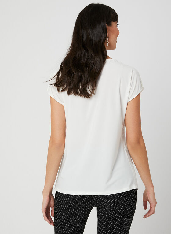 Layered Chiffon Top, Off White