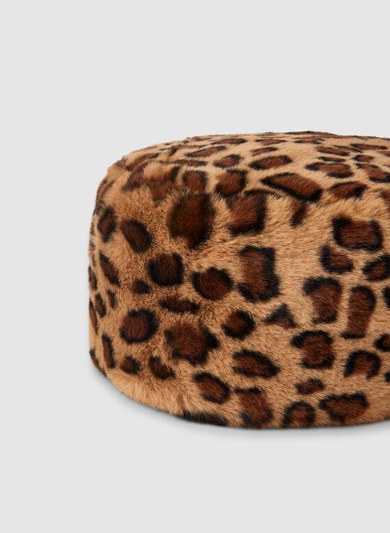 Leopard Print Hat, Brown