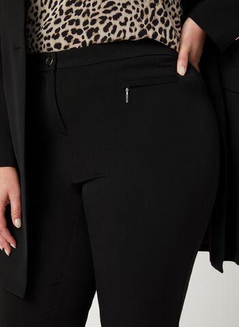 Pantalon coupe signature à jambe droite, Noir,