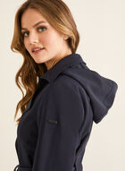 Novelti - Hooded Trench Coat, Blue