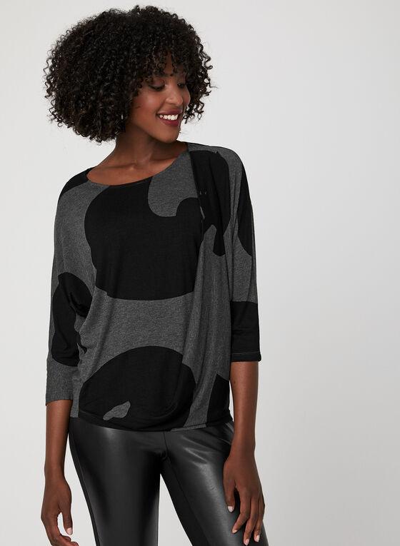 Linea Domani - Haut drapé à motif abstrait, Gris, hi-res