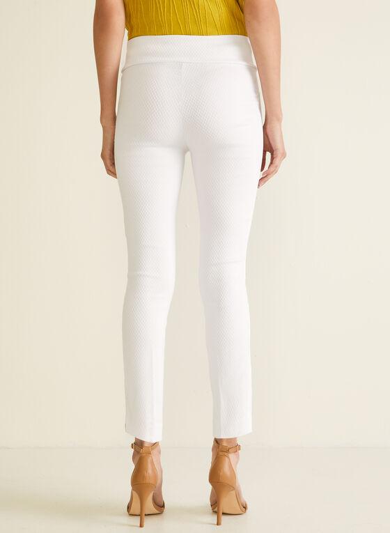 Meg & Margot - Pantalon pull-on étroit, Blanc