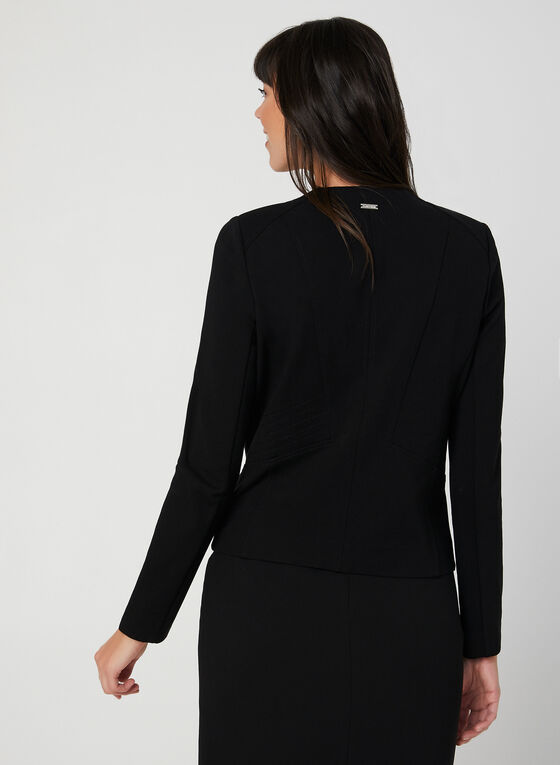 Open Front Jacket, Black