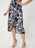 Robe fleurie texturée sans manches, Bleu, hi-res