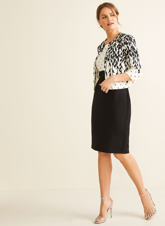 Polka Dot Cardigan & Dress, Black