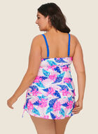 Nass-eau - Tropical Print Two-Piece Swimsuit, Pink