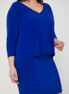 Joseph Ribkoff - Robe fourreau superposée, Bleu, hi-res