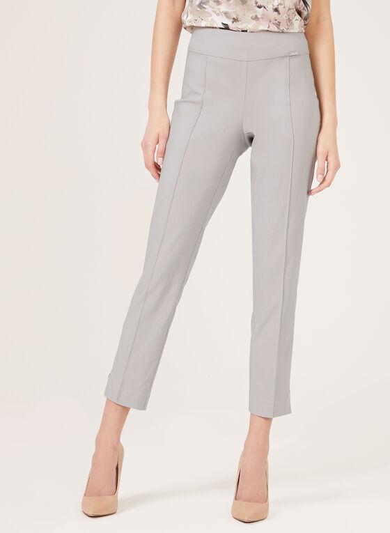 Pantalon pull-on à jambe étroite longueur cheville, Gris, hi-res