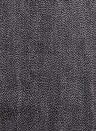 Foulard brillant à franges façon étole, Noir, hi-res