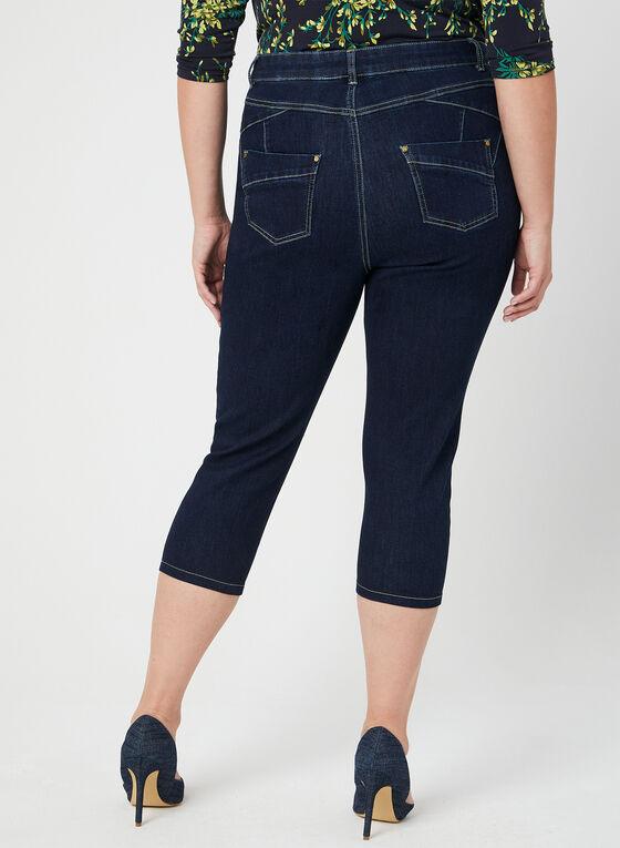 Capri en jean à coupe moderne, Bleu