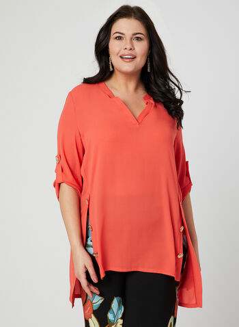 Joseph Ribkoff - ¾ Sleeve Blouse, Red, hi-res