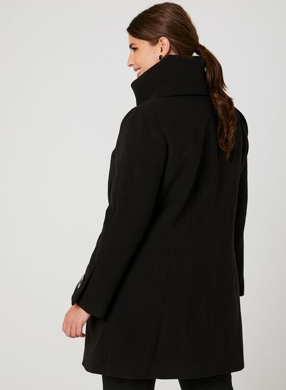 Manteau aspect laine à gros boutons, Noir, hi-res