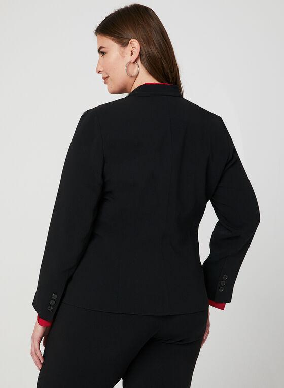 Louben - 2 Button Blazer, Black, hi-res