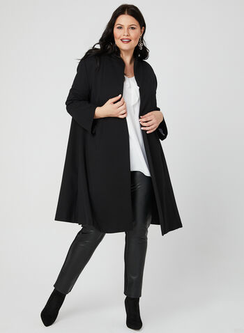 Joseph Ribkoff - Long Open Front Jacket, Black, hi-res