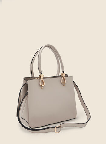 Large Satchel Handbag, Off White,  purse, hangbag, bag, satchel, faux leather, spring 2020, summer 2020, zipper