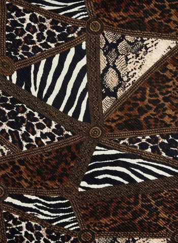 Mixed Animal Print Scarf, Brown,  animal print, scarf, animal print scarf, fall 2019, winter 2019, plissee scarf