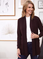 Open Cardigan With Pockets, Purple