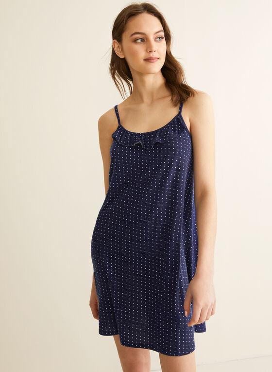 Comfort & Co. - Chemise de nuit à volants, Bleu