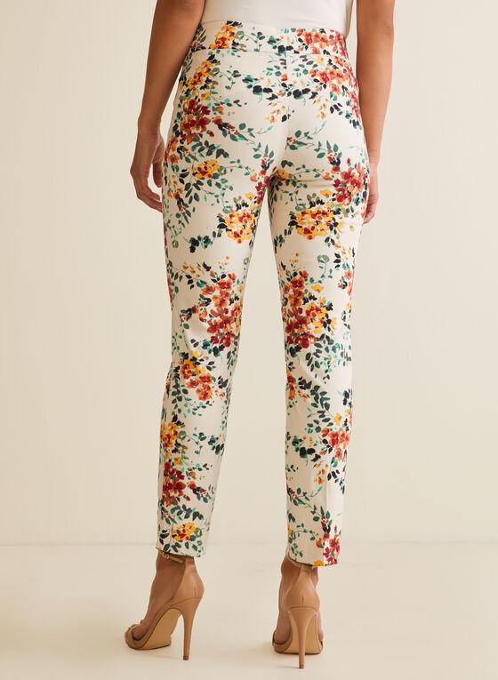 Pantalon coupe cité à motif floral, Multi
