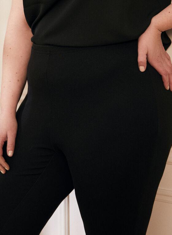 Legging à taille élastique, Noir