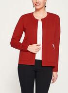 Elena Wang - Cardigan ouvert en tricot, Rouge, hi-res