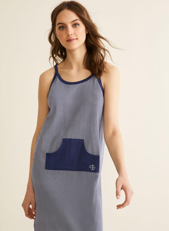 Claudel Lingerie - Chemise de nuit à poche, Bleu