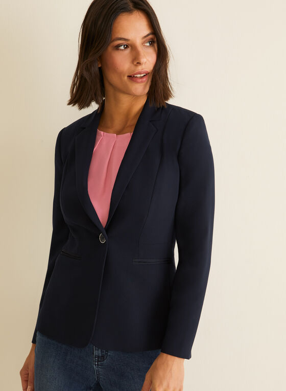 Notch Collar Blazer, Blue