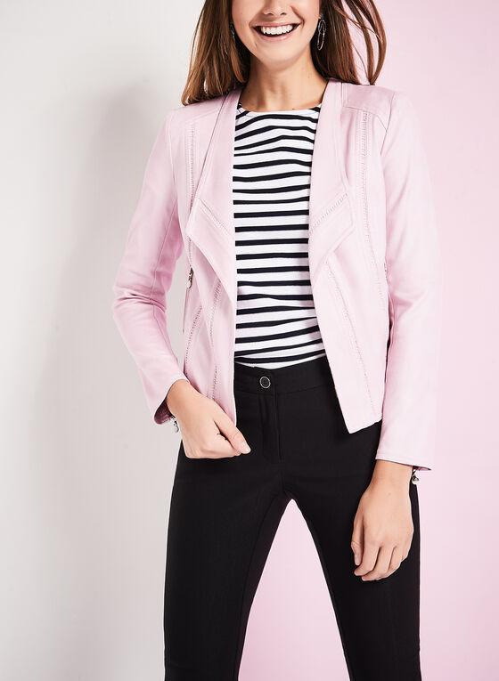 Vex Faux Suede Jacket , Pink, hi-res
