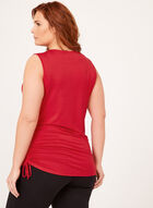 Sleeveless Asymmetric Top, Red, hi-res