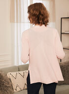 Open Front Pointelle Cardigan, Pink