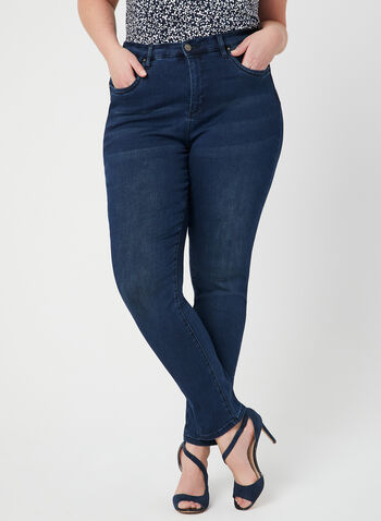 Simon Chang - Modern Fit Slim Leg Jean, Blue, hi-res