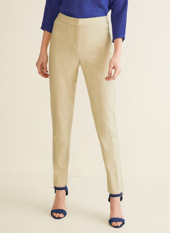 City Fit Straight Leg Pants, Off White,  pants, city fit pants, mid rise pants, straight leg, straight leg pants, spring 2020, summer 2020