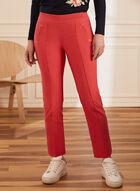 Pantalon coupe cité à jambe étroite, Rouge