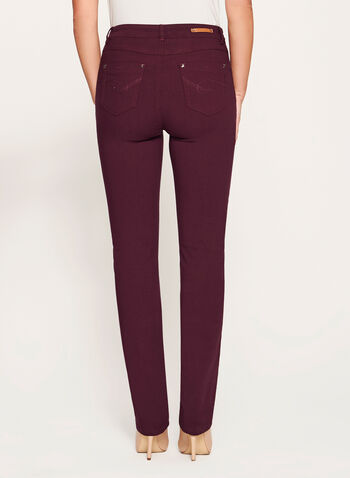 Simon Chang - Signature Fit Straight Leg Pants, Red, hi-res
