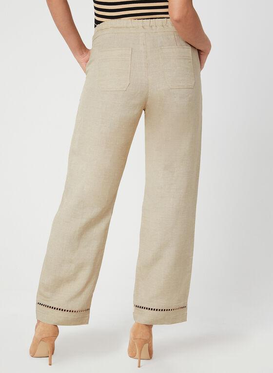 Pantalon à coupe moderne et jambe large, Blanc cassé