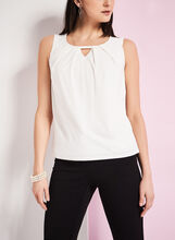 Scoop Neck Keyhole Top, , hi-res