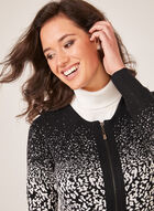 Alison Sheri - Zip-Up Cardigan, Black, hi-res
