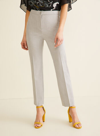 Signature Straight Leg Pants, Grey,  pants, signature pants, straight leg, straight leg pants, high rise pants, comfortable pants, spring 2020, summer 2020