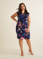 Floral Print Day Dress , Blue