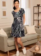Tropical Print Dress, Blue