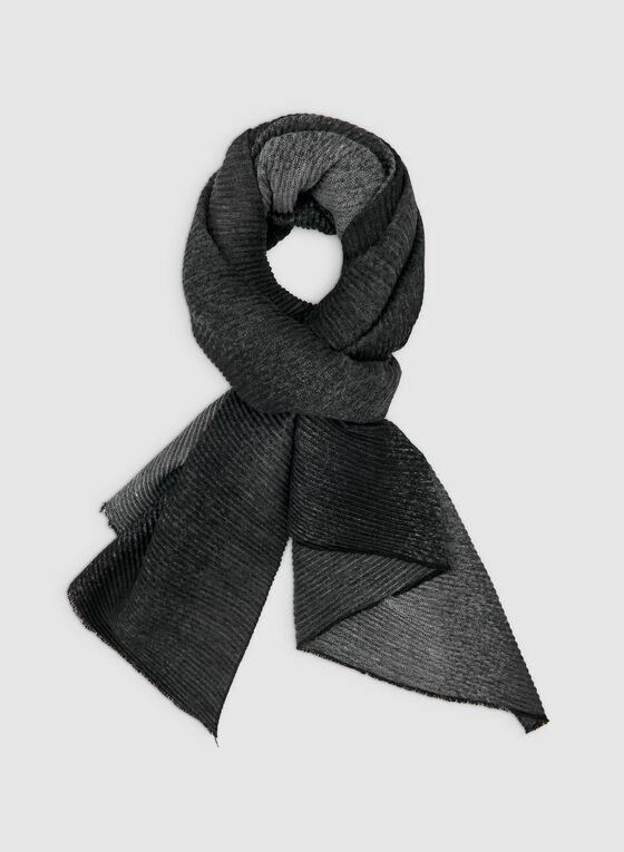 Knit Ombré  Scarf, Grey, hi-res