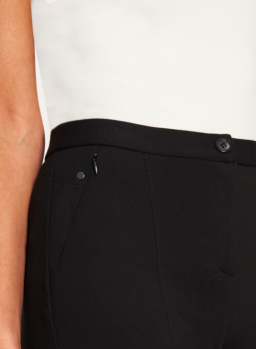 Signature Fit Slim Leg Ponte Pants, Black, hi-res