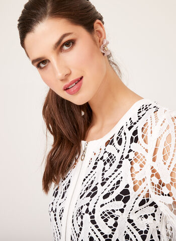 Ness - Cropped Lace Jacket, Off White, hi-res