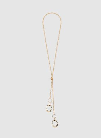 Collier sautoir à pendants anneaux, Or, hi-res