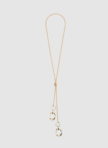 Hoop Pendant Necklace , Gold, hi-res