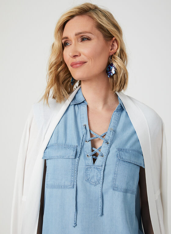 GG Jeans - Tunique en tencel aspect denim, Bleu