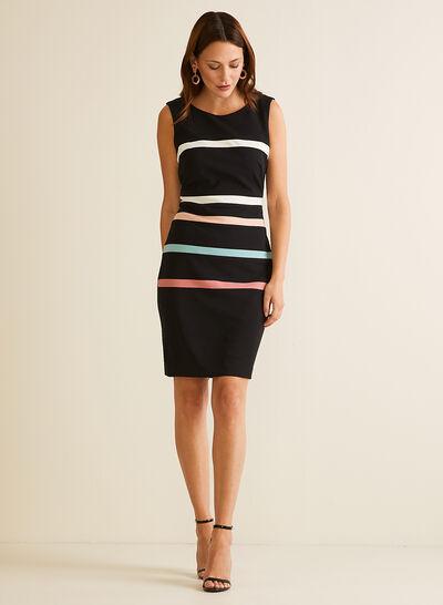 Contrast Stripe Sleeveless Dress